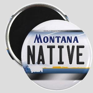 Montana License Plate - [NATIVE] Magnet